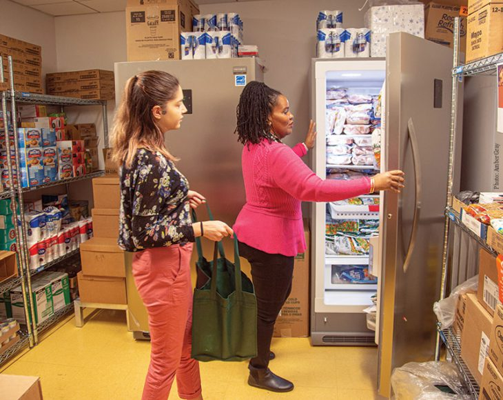 Food pantry at John Jay College