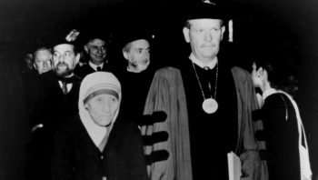 Mother Theresa at John Jay College Commencement